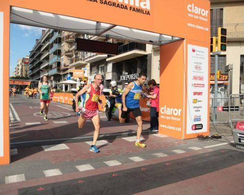 L'Albert López arribant a la meta després d'acabar una cursa// Fotos d'arxiu