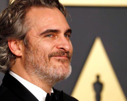 Joaquin Phoenix durant la gala dels Oscars 2020